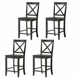 Set of 4 24'' Counter Height Barstools Kitchen Dining Chairs