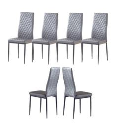 Set of 4/6 Leather Dining Chairs Kitchen Room Furniture Back