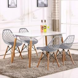 VECELO Set of 4 Dining Chair Cut Out Eiffel Accent Armless S