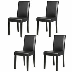 Set of 4 Dining Chair Elegant Design Kitchen Dinette Room Bl