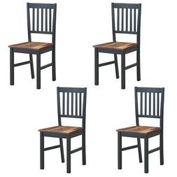 Set of 4 Dining Chair Kitchen Spindle Back Side Chair with S