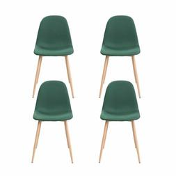 Set of 4 Dining Chairs Easily Assemble Modern Kitchen Fabric