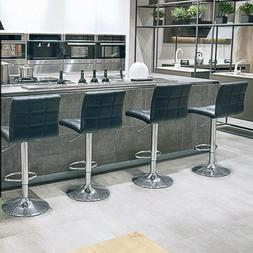 Set of 4 Dining Chairs High Backrest Upholstered Modern Eleg
