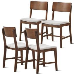 Set of 4 Fabric Upholstered Dining Side Chairs Kitchen Dinin