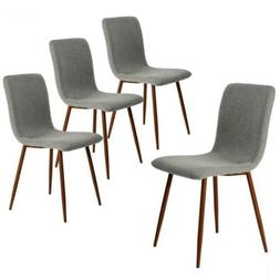 Coavas Set of 4 Kitchen Dining Chairs, Assemble Grey Chairs
