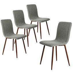 Coavas Set of 4 Kitchen Dining Chairs Fabric Cushion Side Ch