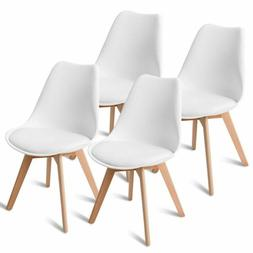 Set of 4 Mid Century Dining Side Armless Chairs DSW Modern W