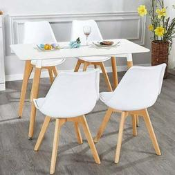 VECELO Set of 4 Mid Century Modern Dining chair Side Chair W