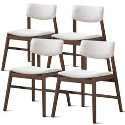 Set of 4 Mid Century Modern Dining Side Chairs Upholstered D