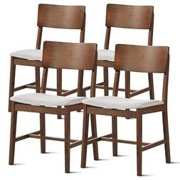 Set of 4 Modern Fabric Upholstered Dining Side Chairs