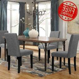 Walnew Set of 4 Modern Upholstered Dining Chairs with Wood L