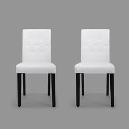 Set of 4 PU leather Dining Chairs w/ wooden legs Kitchen Cha