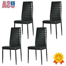 Set of 4 PU Leather Dining Room Chair Kitchen Dining Breakfa