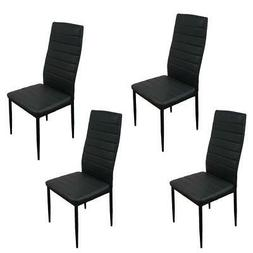 set of 4 pu leather dining side