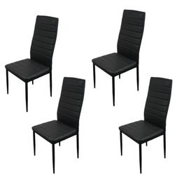 Set of 4 PU Leather Dining Side Chairs Elegant Design Home F