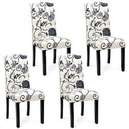 set of 4 tufted dining chair upholstered