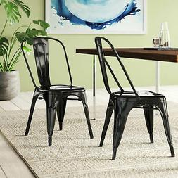 Belleze© Set of  Vintage Style Dining Side Chairs Steel