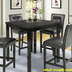 Small Dining Counter Ht Table Kitchen Breakfast Nook Wood Sq