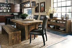 Sommerfard Casual Wood Brown Color Dining Room Set: Rectangl