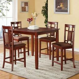Acme Furniture Sonata 5 Piece Counter Height Dining Table Se