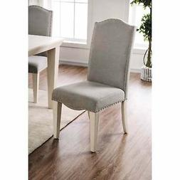 Furniture of America Sope Modern White Dining Chairs (Set of
