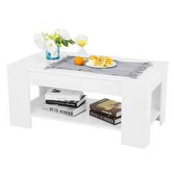 Compartment Lift up Top Tea Coffee Table Laptop Storage Shel