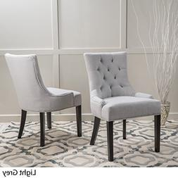 Stacy Light Grey Fabric Dining Chairs