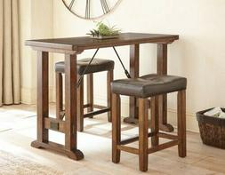 Steve Silver Colin 3 Piece Counter Height Dining Set in Moch