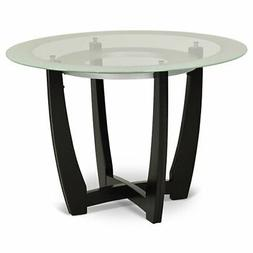 """Steve Silver Verano 45"""" Round Glass Top Dining Table in Espr"""