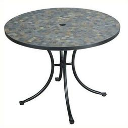Home Styles Stone Harbor Outdoor Dining Table in Black/Slate