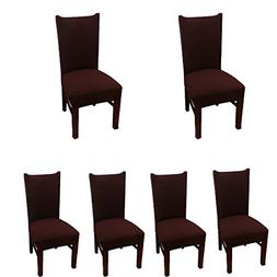 Deisy Dee Stretch Solid Color Chair Covers Removable Washabl