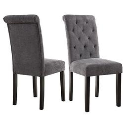 LSSBOUGHT Stylish Dining Room Chairs with Solid Wood Legs, s