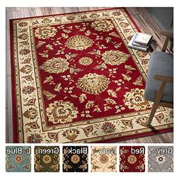 Sultan Sarouk Red Persian Floral Oriental Formal Traditional