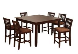 Furniture of America Svelte 7-Piece Counter Height Table Set