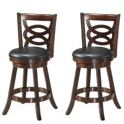 """Swivel Stool 24"""" Counter Height Upholstered Dining Chair Hom"""
