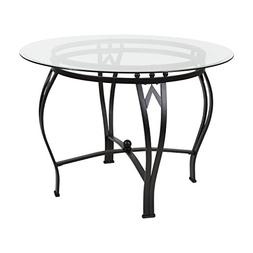 Flash Furniture Syracuse 42'' Round Glass Dining Table with