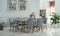 Roundhill Furniture T171 C171GY Monotanian Dining Collection
