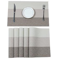 HEBE Table Placemats Set of 6 Heat Resistant Placemat for Di