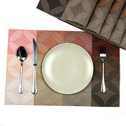 table placemats square washable waterproof