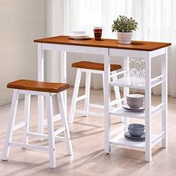 Harper&Bright Designs Tampa Series Dining 3-Piece Table Set