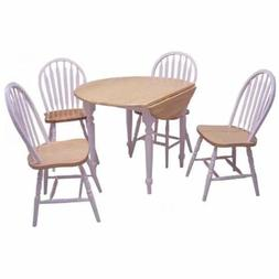 Target Marketing Systems TMS 5 Piece Drop Leaf Dining Set, W
