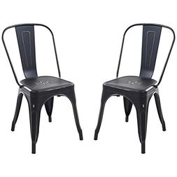 Poly and Bark Trattoria Side Chair in Distredded Black