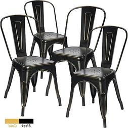 Devoko Metal Indoor Outdoor chairs Distressed Tolix Metal Ch