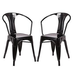 Costway Tolix Style Dining Chairs Industrial Metal Stackable