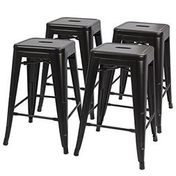 Devoko Tolix Style Metal Bar Stools 24'' Indoor Outdoor Stac