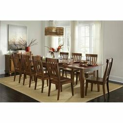 A-America Toluca 11 Piece Extendable Dining Set in Rustic Am