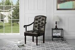 Traditional Tufted Faux Leather Upholstered Dining Chair, Gr