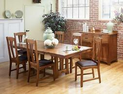 Trestle Dining Table Set 8 CATAM6300 A-America Cattail Bunga