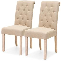 Best Choice Products Set of 2 Tufted High Back Parsons Dinin