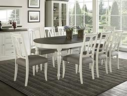 Vegas 9 Piece Oval Extension Dining Table Set for 8